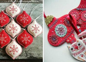 Шиємо новорічні іграшки на ялинку. Ідеї, викрійки та схеми декорування