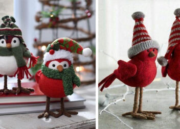 Пташки - чудовий зимовий декор своїми руками. Ідеї, лекала та секрет виготовлення лапок