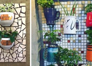Як використати розбиту кераміку? Зробити із неї мозаїку!