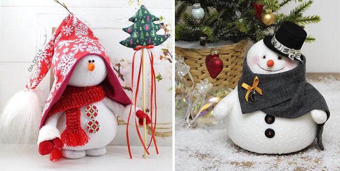 Шиємо сніговичків: ідеї та викрійки (20 фото)