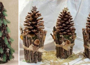 Створюємо ялинку із шишок. 15 ідей святкового декору