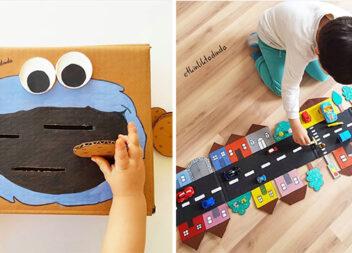 10 бюджетних ігор для дітей із картонної коробки