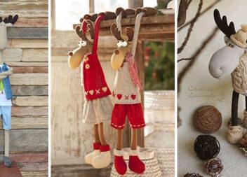 Різдвяні олені та лосі. Добірка ідей та викрійок