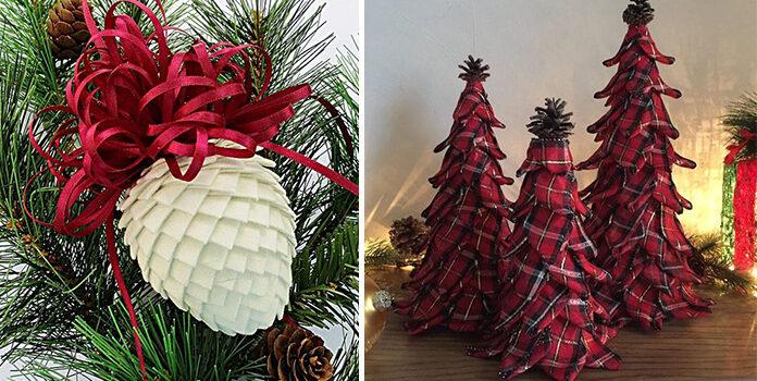 Новорічний декор із текстилю. Створюємо самотужки. 35 фото