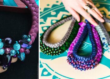 Неймовірне намисто із ниток: 18 варіантів створення краси