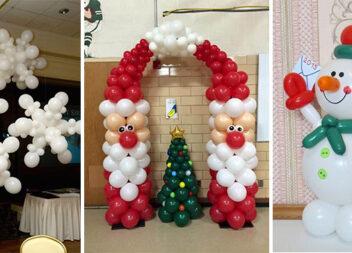30 святкових композицій до зимових свят із повітряних кульок