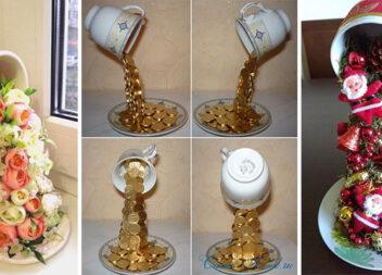 Подарунковий декор із чашки. Ідеї та секрети