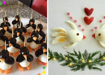 Красиві варіанти закусок на святковий стіл