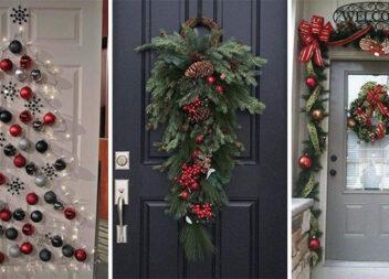 Як прикрасити вхідні двері до зимових свят. 15 ідей декору