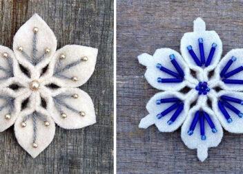 Сніжинки з фетру своїми руками. 20 красивих ідей новорічного декору
