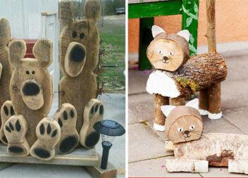 Звірята із деревини. Ідеї для натхнення