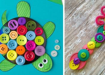 Творчість із дітьми: кольорові ґудзики