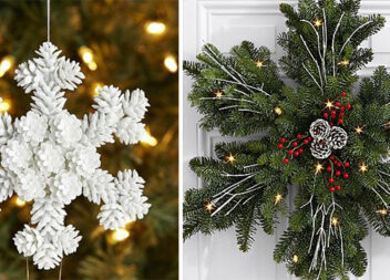 Створюємо сніжинку із соснових гілочок та шишок. 19 красивих ідей
