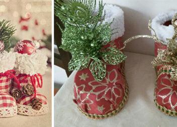Як зробити подарунковий чобіток: ідеї декорування + фото основи