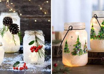 Як зробити новорічний декор зі звичайної скляної банки чи пляшки