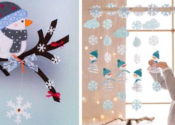 Зимовий декор: прикрашаємо вікна витинанками та гірляндами. Ідеї та шаблони