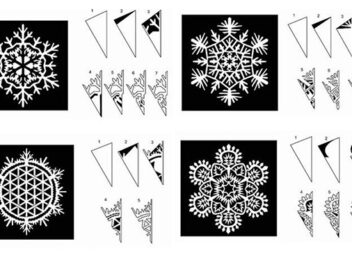 Неймовірно красиві сніжинки з паперу: трафарети для вирізання