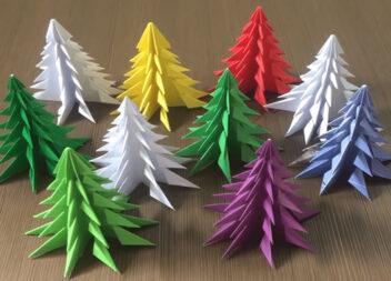Шикарна 3D ялинка: просто зігни папір і отримай чудовий декор (майстер клас + відео)