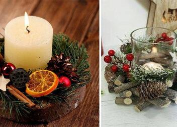 Оформляємо свічки до свят. Ідеї із використанням природних матеріалів