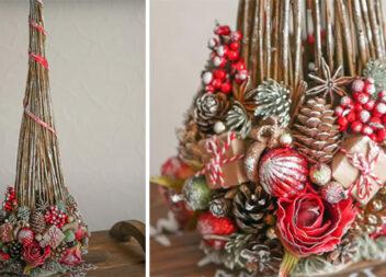 Незвичайна ідея використання гілочок для створення оригінального новорічного декору