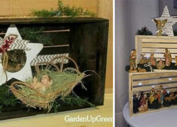 Різдвяна композиція за допомогою ящиків