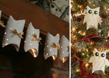 Величезна добірка фантастичного новорічного декору із картонних втулок