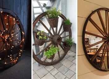 Як використати старе дерев'яне колесо. Ідеї