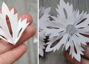 Найпростіший і найшвидший спосіб зробити об'ємну сніжинку з фоамірану