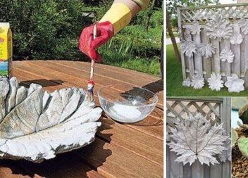 Як із цементу зробити круті декоративні вазочки