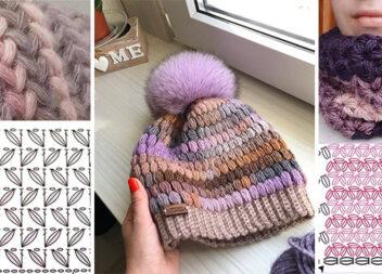 В'яжемо шикарну зимову шапку і не тільки. Добірка красивих схем