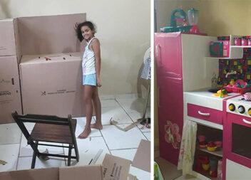 Як самотужки зробити кухню для дитячих ігор із картонних коробок