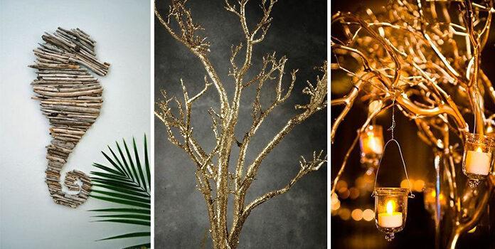 Як використовувати гілки дерев в інтер'єрі: 12 ідей