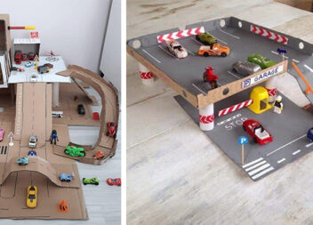 Іграшки для дітей із картонних коробок