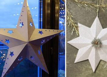 Об'ємні зірки з паперу своїми руками. Ефектний декор для будь-якого свята