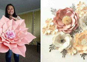 Гігантські паперові квіти - ідеально для домашнього та святкового декору