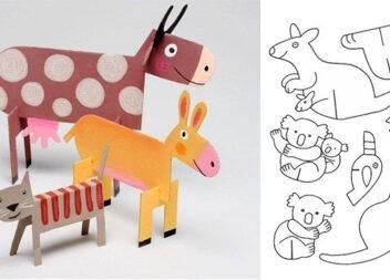 Виготовляємо картонний зоопарк. Шаблони