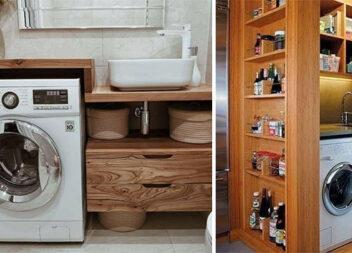 25 ідей як сховати пральну машинку
