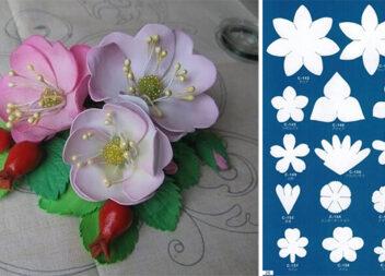 Шаблони для створення квітів із різних матеріалів
