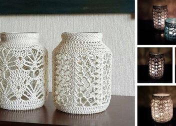 Як зробити шикарну вазу чи свічник із скляної баночки