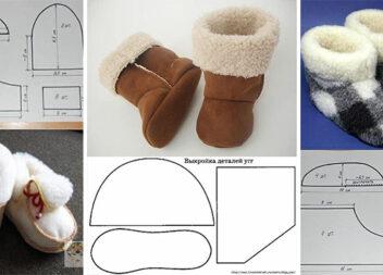 Шиємо теплі домашні капці для дітей