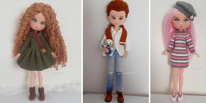 Ляльки із пряжі, зроблені власноруч