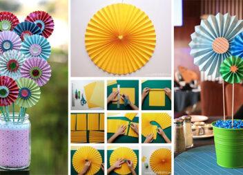 Робимо креативні квіти із паперового віяла