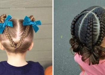 Ідеї зачісок для дівчаток. Мамам на замітку