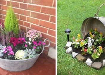 Робимо декор для саду зі старої оцинкованої ванни