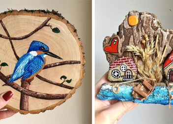 Чарівні композиції на дерев'яних спилах
