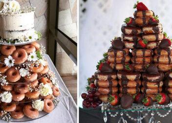 Як здивувати десертом гостей? Зробіть весільний торт із пончиків