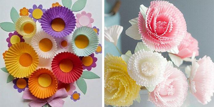 Що можна створити із паперових формочок для кексів