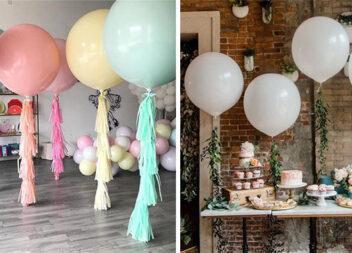 Святковий декор за допомогою великих повітряних кульок