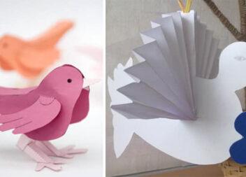 Паперові пташки: різні ідеї та фото кроки для виготовлення. Велика добірка!