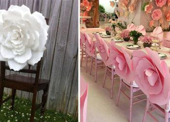 15 варіантів квіткового декору крісел